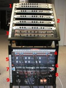 Here are the hardware compressors we use when mixing analog.