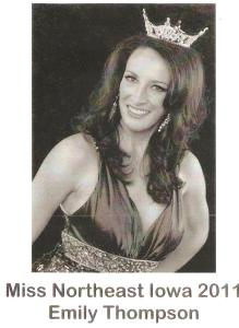 Emily Thompson, Miss Northeast Iowa