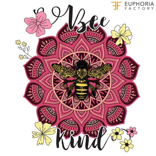 Bee Kind Flower Design in png and jpg formats