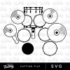 Heartbeats Drums Downloadable SVG Design