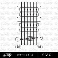 Heartstrings guitar Downloadable SVG Design