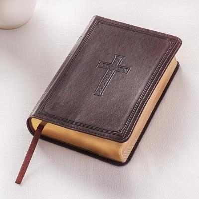 KJV Compact Large Print Lux-Leather DK Brown