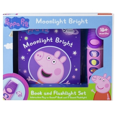 Peppa Pig Moonlight Bright: Book and Flashlight Set [With Flashlight]