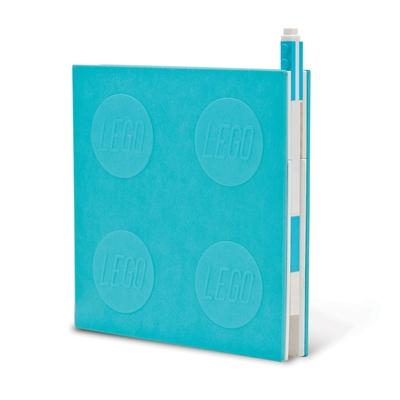 Lego 2.0 Locking Notebook with Gel Pen - Azur