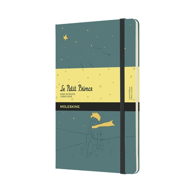 Moleskine Limited Edition Petit Prince Notebook, Large, Ruled, Forget Blue, Hard Cover (5 X 8.25)