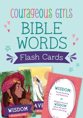 Courageous Girls Bible Words Flash Cards