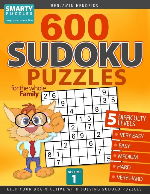 600 Sudoku Puzzles for the whole Family: 5 difficulty levels: very easy - easy - medium - hard - very hard. Keep your brain active with solving sudoku