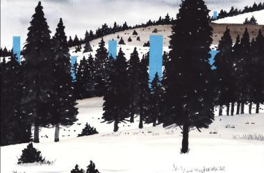 Pintura de cenas de neve