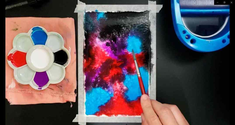 pintura de galáxias 3