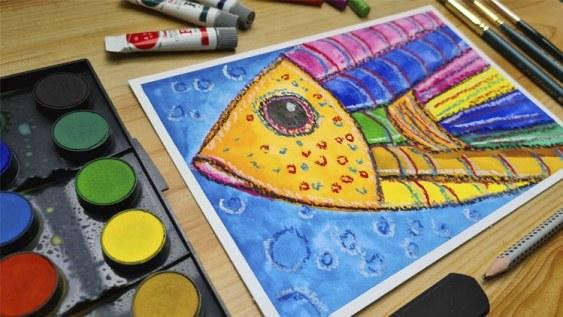 curso de aquarela para crianças