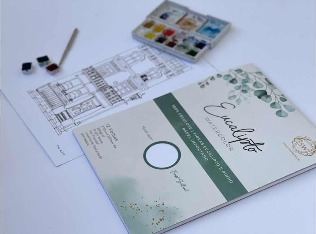 Bloco de papel Eucalipto Start Watercolor