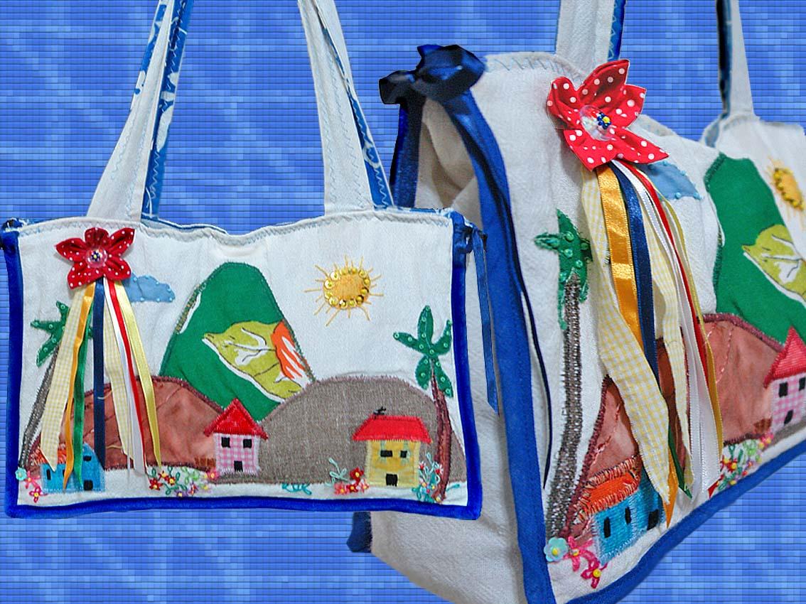 Esta bolsa fiz especialmente para eu levar meus artesantos