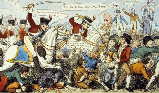 """Manchester Massacre"" in 1819."