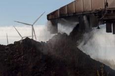 Stocking lignite at Garzweiler mine