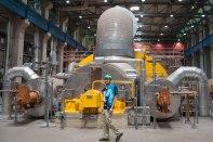 Niederaußem power plant turbine hall - high pressure end