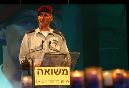 """""""The Holocaust must lead us to fundamentally rethink how we, here and now, behave towards the other"""": the Israeli army's deputy chief of staff"""