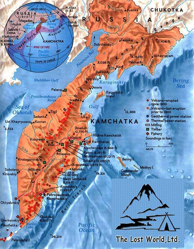 Russai - travel - Kamchatka - bigkamap