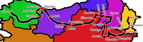 Itinerary Euskal Herria September 2013