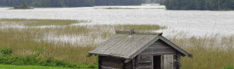 Hut on Kizhi island (Karelia)