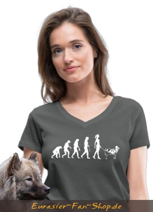 Eurasier T-Shirt für Frauen - Alien Eurasier