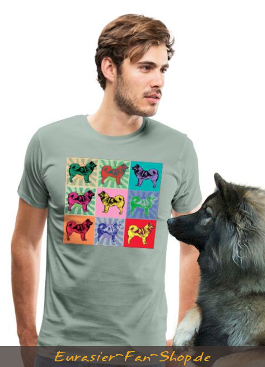 Andy Warhol - Eurasier T-Shirt für Männer