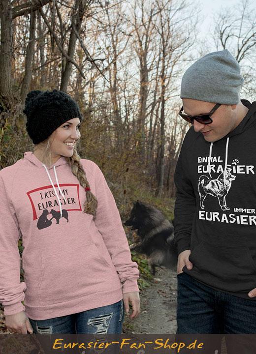Eurasier Hoodie-Pulli - Einmal Eurasier