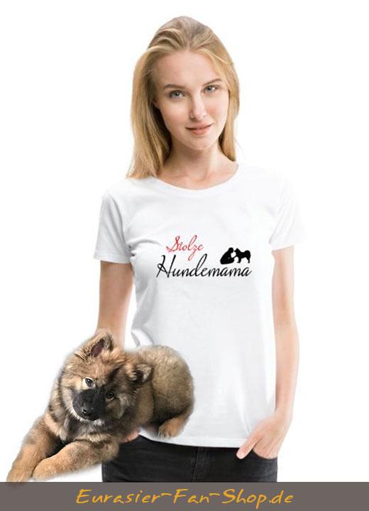Eurasier T-Shirt Frauen - stolze Hundemama