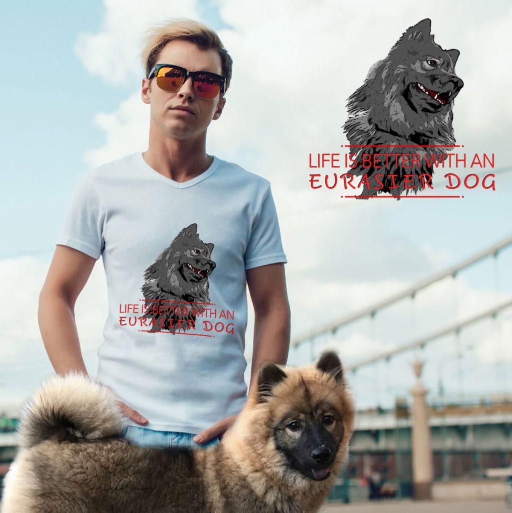 life-is-better Eurasier dog t-shirt motiv