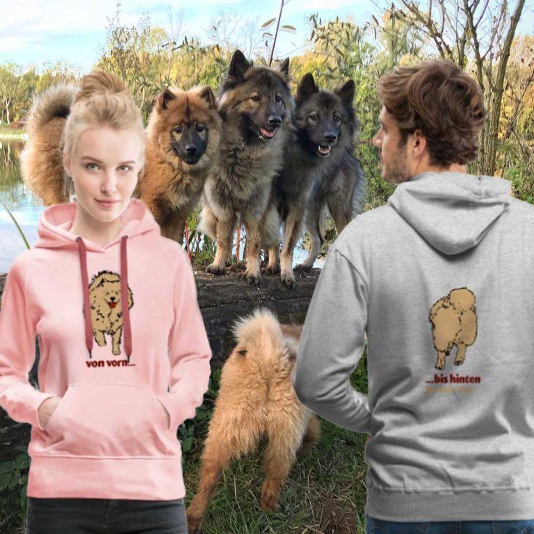 Vorn-bis-Hinten Eurasier T-shirt Motiv