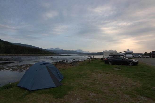 mein Zelt am Fjord (Norwegen)