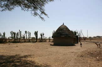 Äthiopien, farmer compound.