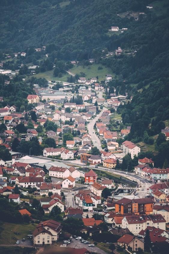 La Bresse von oben
