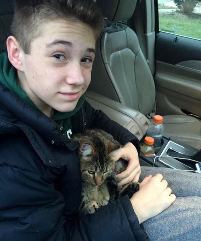 猫を救った少年