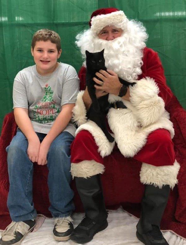 サンタさんと少年