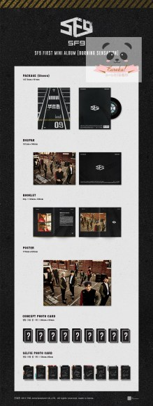 "SF9 - 1st Mini-Album ""Burning Sensation"" Detail"