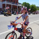 Jackie Soncini won first place for the best decorated bicycle.