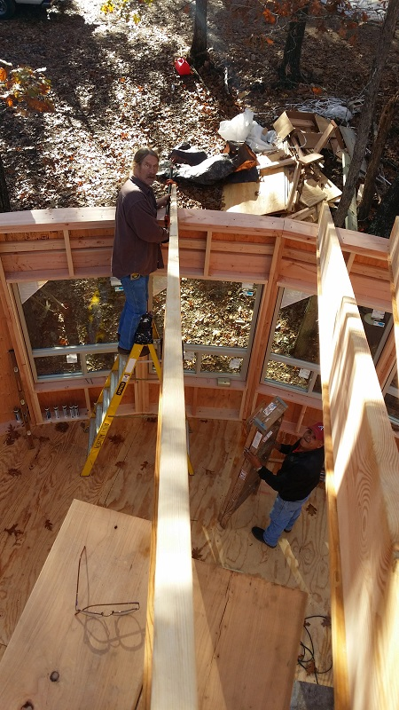Bob Attaching The Rafters