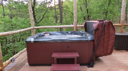 Private hot tub on your deck.