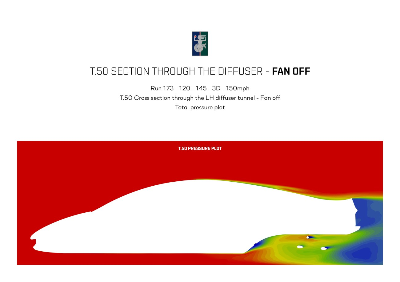 T.50 Section through the diffuser - Fan OFF