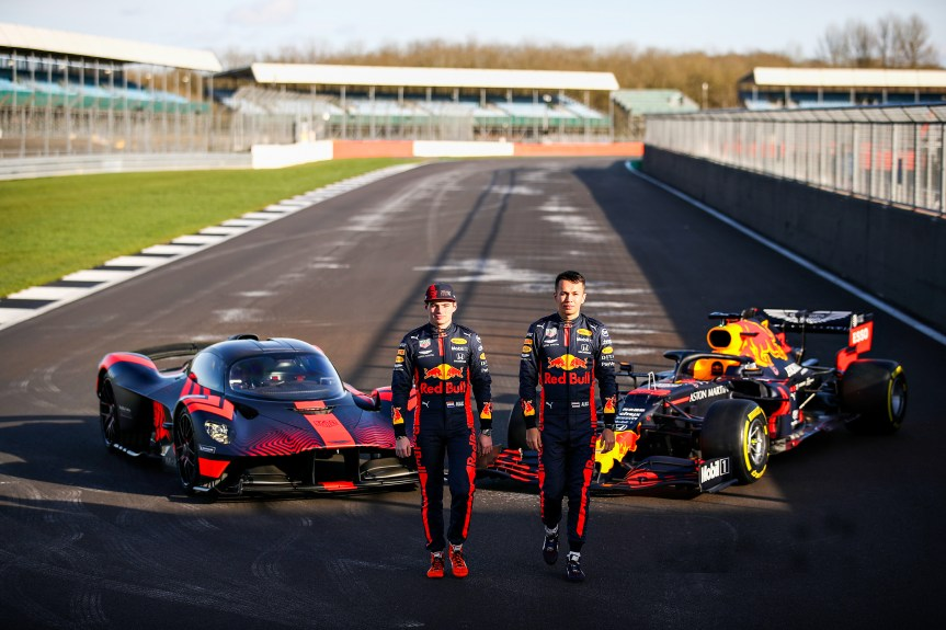 NORTHAMPTON, ENGLAND - FEBRUARY 12: during the Red Bull Racing RB16 launch at Silverstone Circuit on February 12, 2020 in Northampton, England. (Photo by Bryn Lennon/Getty Images)