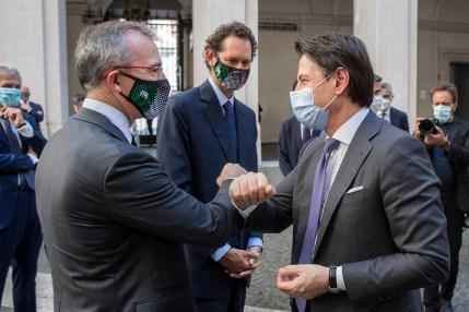 Presentazione della nuova Fiat 500 elettrica al Presidente del Consiglio Conte