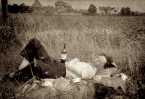 Dad in Field in France, 1952
