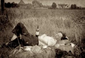 Dad in Field in France, 1952