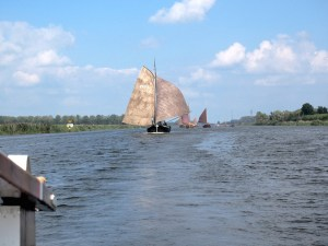 Boots under sail