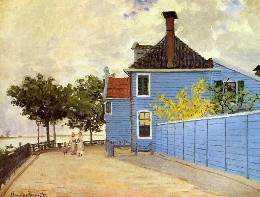 'The Blue House' Claude Monet (1871)