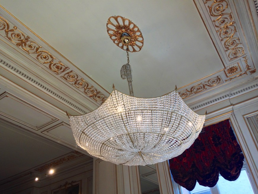 Striking but traditional form of chandelier