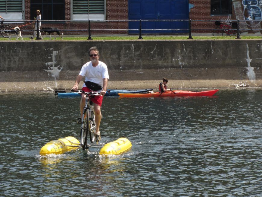Wonder if this would solve some commuting issues in Melbourne? Save using congested bridges to cross the Yarra.