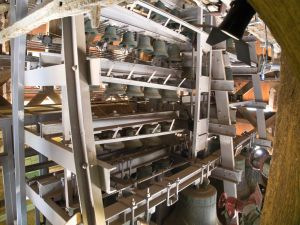 Just some of the 62 bells in the carillon.