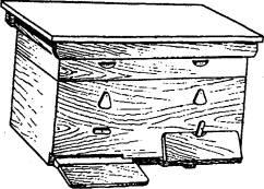 Устройство улья-лежака