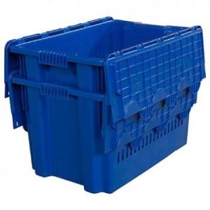 Ящик с крышкой 600x400x365 перфорированные стенки Арт.604-1